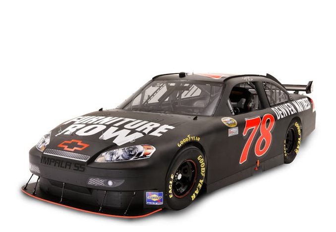 Furniture row racing fill three positions the final lap for Furniture row racing