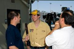 2011 Phoenix Test Kyle Busch with Media