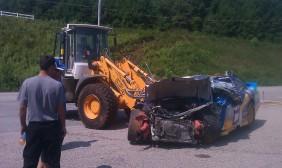 Brad Keselowski Road Atlanta Crash
