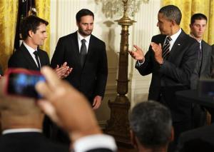 Jimmie Johnson Barack Obama on September 7, 2011 in Washington, DC.