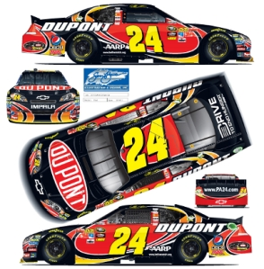 Jeff Gordon 2012 DuPont Paint Scheme 24