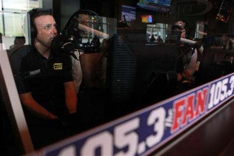 Matt Kenseth, driver of the #17 Best Buy Ford on 105.3 The Fan Radio in Dallas, Texas