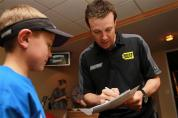 Matt Kenseth, driver of the #17 Best Buy Ford on February 28, 2012 in Dallas, Texas