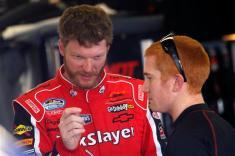 2012 Daytona Feb NNS Dale Earnhardt Jr talks Cole Whitt