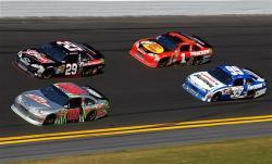 2012 Daytona Feb NSCS Duel 1 Dale Earnhardt Jr leads