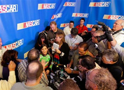 2012 NASCAR Media Day Danica Patrick interview