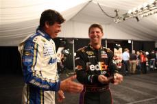 2012 NASCAR Media Day Michael Waltrip Denny Hamlin