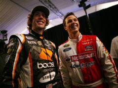 2012 NASCAR Media Day Travis Pastrana and Trevor Bayne