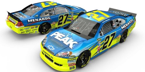 Menards Speedweeks Paint Scheme 2012 Paul Menard