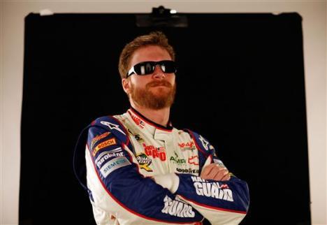 2012 NASCAR Media Day Dale Earnhardt Jr. Beard