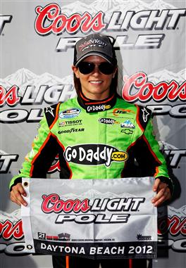 danica-patrick-coors-light-pole-award-daytona-nascar-nationwide