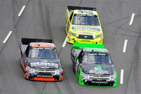 2012 Martinsville March NASCAR Camping World Truck Series Jeb Burton James Buescher Matt Crafton