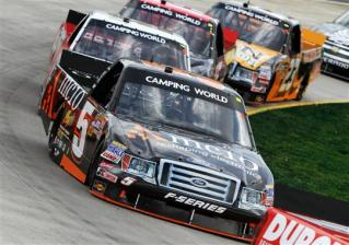 2012 Martinsville March NASCAR Camping World Truck Series Paulie Harraka on track