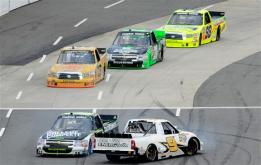 2012 Martinsville March NASCAR Camping World Truck Series Ron Hornaday Spins