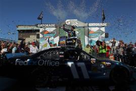 2012 Phoenix March NSCS Race Victory Lane Denny Hamlin Wide