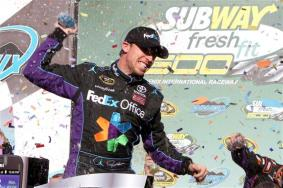2012 Phoenix March NSCS Race Victory Lane Denny Hamlin