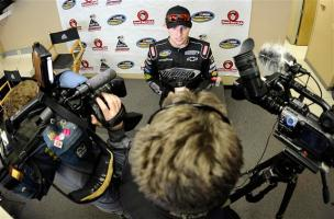 2012 RS Mar NCWTS Test 030612 Buescher with Media