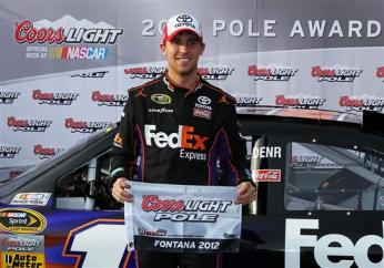 2012 Auto Club NSCS Qualifying Denny Hamlin