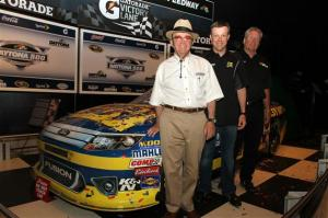 2012 Daytona 500 Winner Luncheon Matt Kenseth Jack Roush Jimmy Fennig with No17 car