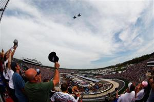 2012 Martinsvill March NASCAR Sprint Cup Series Race Flyover