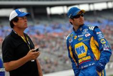 NASCAR-Michael-Waltrip-Martin-Truex-Jr-Pole-Texas-1