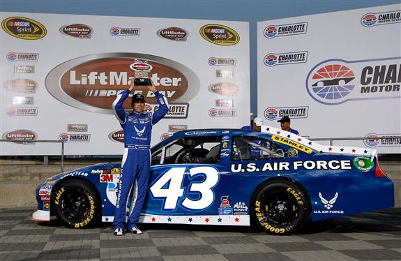 2012 Charlotte May NASCAR Sprint Cup Series Qualifying Aric Almirola Pole