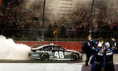 2012 Darlington May NASCAR Sprint Cup Race Jimmie Johnson Donuts