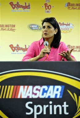 2012 Darlington May NASCAR Sprint Cup Race South Carolina Governor Nikki Haley