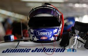 2012 Memorial Day Jimmie Johnson helmet