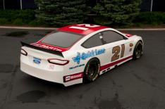 2013 Wood Brothers Ford Fusion NASCAR Cup Series Car Rear