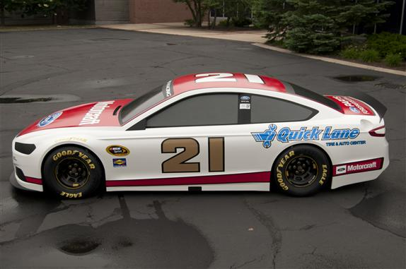 2013 Wood Brothers Ford Fusion NASCAR Cup Series Car Side