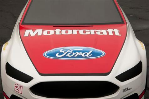 2013 Wood Brothers Ford Fusion NASCAR Cup Series Car Hood