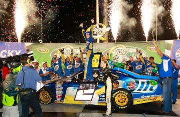 2012 Kentucky June NASCAR Sprint Cup Series Race Brad Keselowski Car Victory Lane