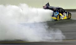 2012 Kentucky June NASCAR Sprint Cup Series Race Brad Keselowski Donuts