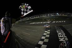 2012 Kentucky June NASCAR Sprint Cup Series Race Brad Keselowski Finish Line