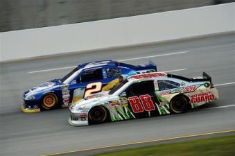 2012 Kentucky June NASCAR Sprint Cup Series Race Brad Keselowski Races Dale Earnhardt Jr