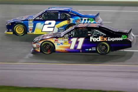 2012 Kentucky June NASCAR Sprint Cup Series Race Brad Keselowski Races Denny Hamlin