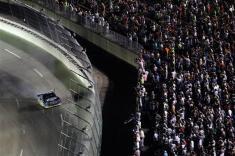 2012 Kentucky June NASCAR Sprint Cup Series Race Brad Keselowski Salutes Fans