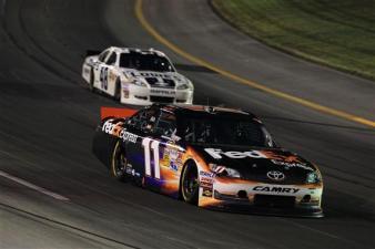 2012 Kentucky June NASCAR Sprint Cup Series Race Denny Hamlin Races Jimmie Johnson