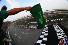 2012 Kentucky June NASCAR Sprint Cup Series Race Start Jimmie Johnson Kyle Busch