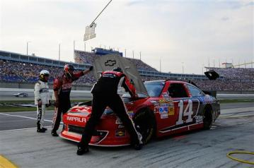 2012 Kentucky June NASCAR Sprint Cup Series Race Tony Stewart Pit