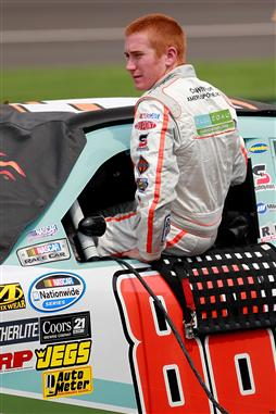 2012 Michigan June NASCAR Nationwide Series Cole Whitt gets in