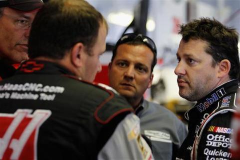 2012 Pocono June NASCAR Sprint Cup Practice Addington Ryan Newman Greg Zipadelli Tony Stewart
