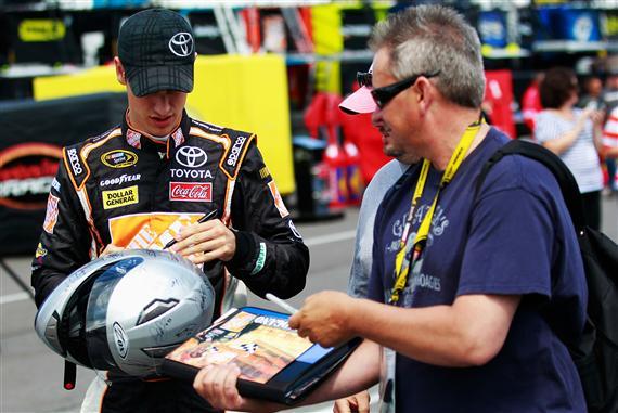 2012 Pocono June NASCAR Sprint Cup Practice Joey Logano Autographs