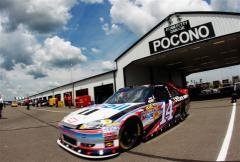 2012 Pocono June NASCAR Sprint Cup Practice Tony Stewart Pocono Garage