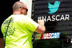 2012 Pocono June NASCAR Sprint Cup Practice Twitter Sign