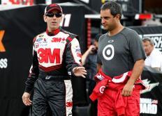2012 Pocono June NASCAR Test Greg Biffle Juan Pablo Montoya