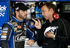 2012 Pocono June NASCAR Test Jimmie Johnson Chad Knaus