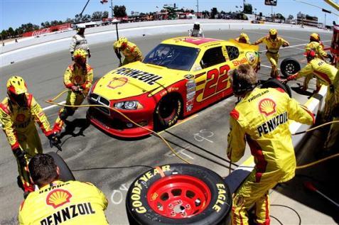 2012 Sonoma June NCSC race aj allmendinger pitstop