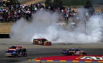 2012 Sonoma June NCSC race clint bowyer burnout